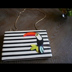 Kate Spade Toucan Leather Clutch